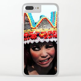 Don't You Dare Touch My Crown Clear iPhone Case