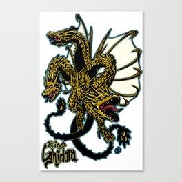 King Ghidora Kaiju Print FC Canvas Print