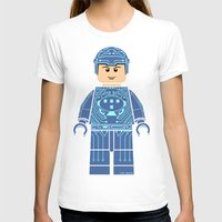 tron T-shirts featuring Tron Lego by Ant Atomic