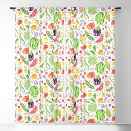 Summer Harvest Pattern Annotated Blackout Curtain