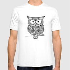 Hoot! Says the owl White SMALL Mens Fitted Tee