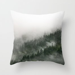 Foggy Prince William Sound Throw Pillow