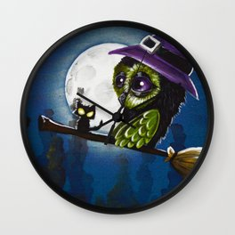 owl witch Wall Clock