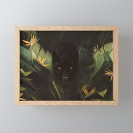 Hello Panther! Framed Mini Art Print