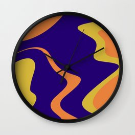 KNICK - bright abstract design orange yellow blue Wall Clock