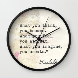 Buddha Great wise quote Wall Clock