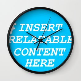 Keep it real with dead memes Wall Clock