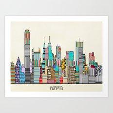 Memphis city Art Print