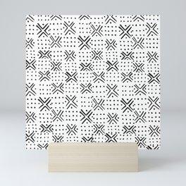 Pattern - White & Black Mini Art Print