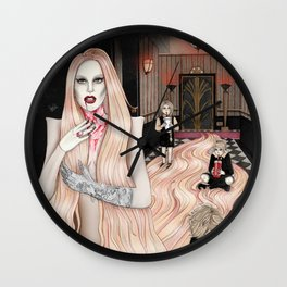 The Countess and their Children Wall Clock
