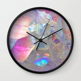 Rainbow Angel Aura Crystal Wall Clock