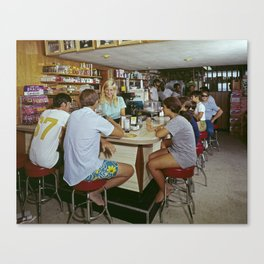 All Star Motel Coffee Shop in Wildwood, New Jersey. 1960's photograph Canvas Print