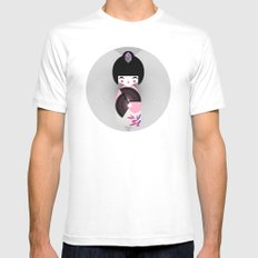 Kokeshi SMALL White Mens Fitted Tee