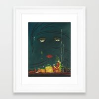the great gatsby Framed Art Prints featuring Gatsby by Julia Lopez