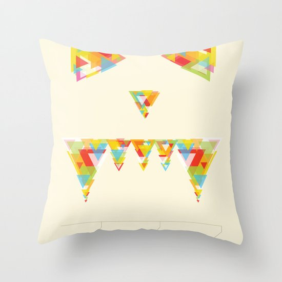 Monster Chaos Throw Pillow