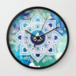 A Legendary Blue/Green Zelda Mandala Wall Clock