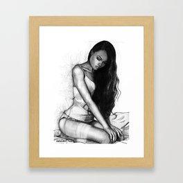 Natalie Danish - Kneeling Girl Framed Art Print