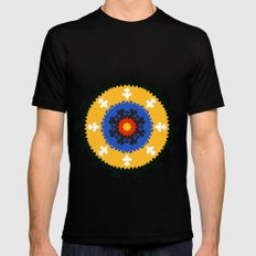 Bold and bright beauty of suzani patterns ver.8 Mens Fitted Tee MEDIUM Black