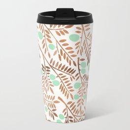 Olive Branches – Rose Gold & Mint Travel Mug