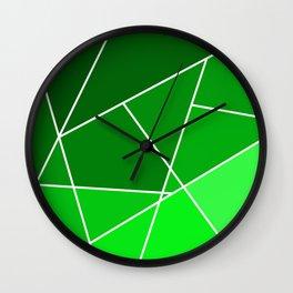 Green Line Pattern Wall Clock