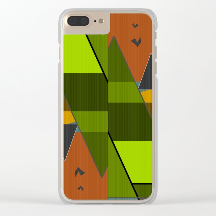 Abstraction. Clear iPhone Case