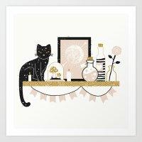 Magical Little Shelf Art Print