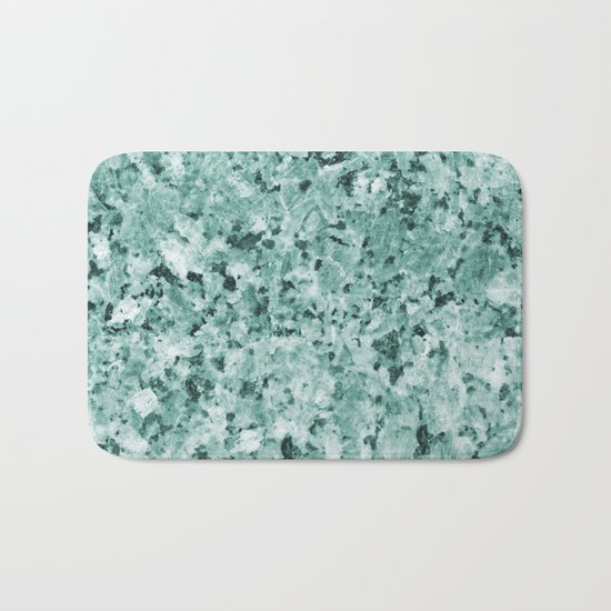 Polished granite verde - turquoise stone Bath Mat