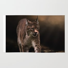 Into The Light - Lynx Art Rug