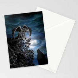 Wolfmoon , Wolf with Golem Stationery Cards