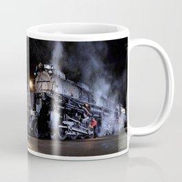 Oiling the Running Gear.  UP 4014. Union Pacific. Steam Train Locomotive. Big Boy. © J. Montague. Coffee Mug
