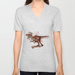 Dino Skate Unisex V-Neck