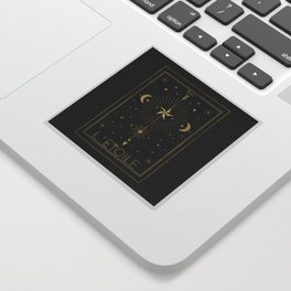 L'Etoile or The Star Tarot Gold Sticker