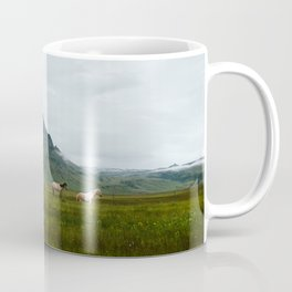 Icelandic Horses Posing for a Photo Coffee Mug
