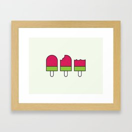 Watermelon Icypole Framed Art Print