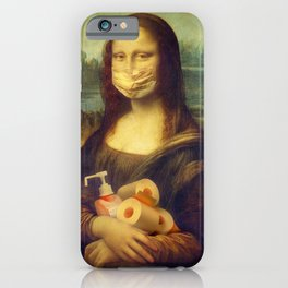Mona Lisa Stocked Up iPhone Case