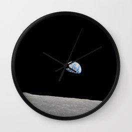 Apollo 8 - Iconic Earthrise Photograph Wall Clock