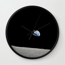 Apollo 8 - Iconic Earthrise Photograph Wall Clock