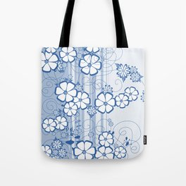 Abstract flowers with background Tote Bag