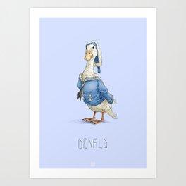 Real Life Donald Duck Art Print