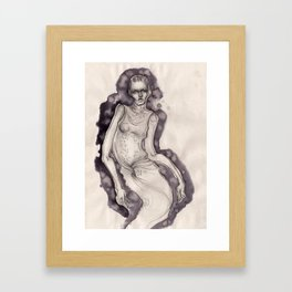 Bleeding ink fashion illustration Framed Art Print