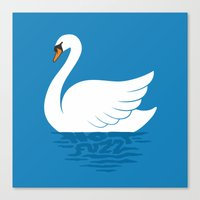 Just The One Swan Actually Canvas Print
