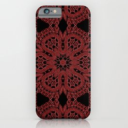 Red Lace Pattern iPhone Case