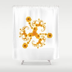Fractal Flower Shower Curtain