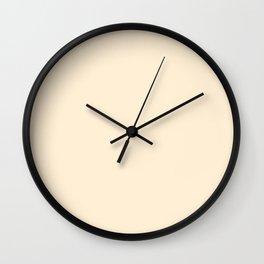 Papaya Whip - solid color Wall Clock
