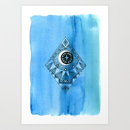 Geometric Diamond 2 Art Print