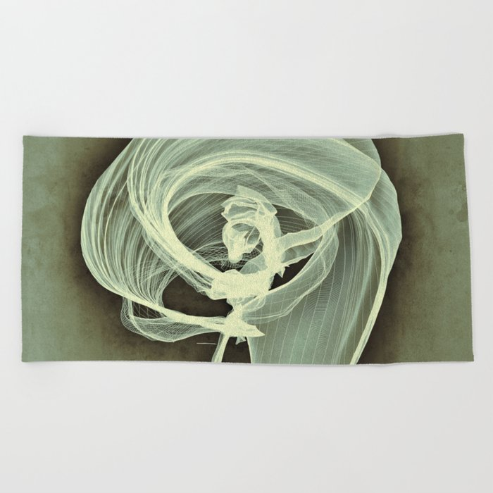 A Smooth Awakening Beach Towel