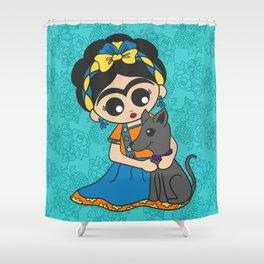 Little Dog Friend Shower Curtain