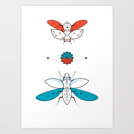 Two Insects II Art Print