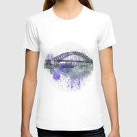 sydney T-shirts featuring Sydney Harbor Bridge II by LebensART