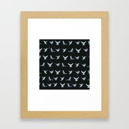 Black & White Silhouette Framed Art Print